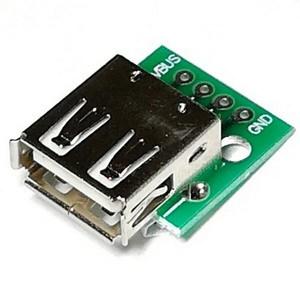 Адаптер USB 2.0 A гнездо - DIP2.54-4P