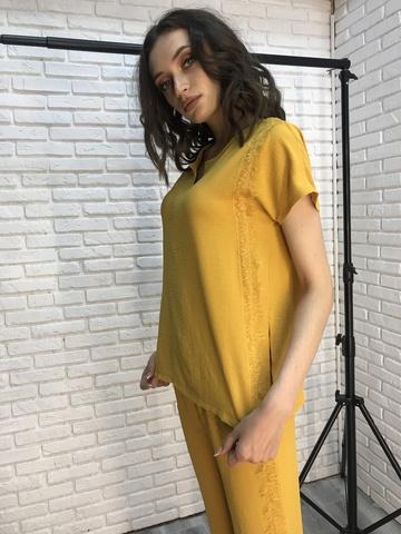 Костюм женский желтый с брюками интернет магазин
