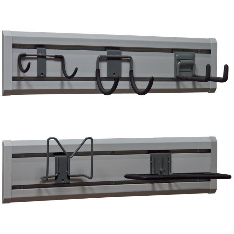Пластиковый рейлинг для подвеса инструментов и инвентаря (крепление к стене)