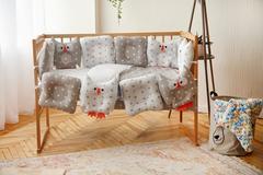 Комплект постельного белья для новорождённых Совушки 9-01 Унисекс 60х120 см серо-белый