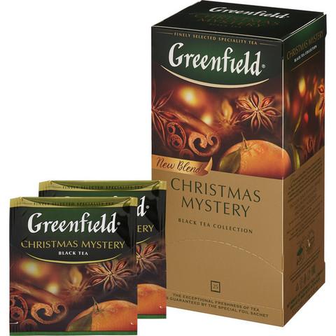Чай Greenfield Christmas Mystery черный 25 пакетиков