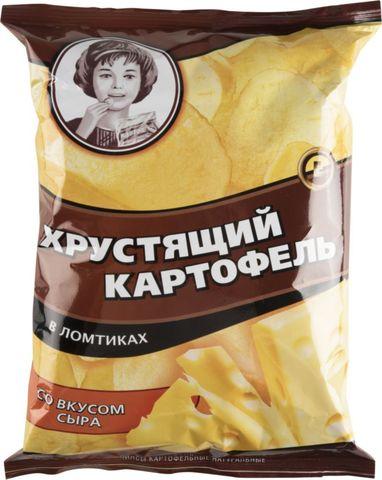 Чипсы Хрустящий картофель сыр Алкомаркет 0,07кг