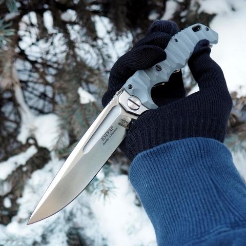 Нож Кугуар НОКС с толкателем, сталь D2 332-109406
