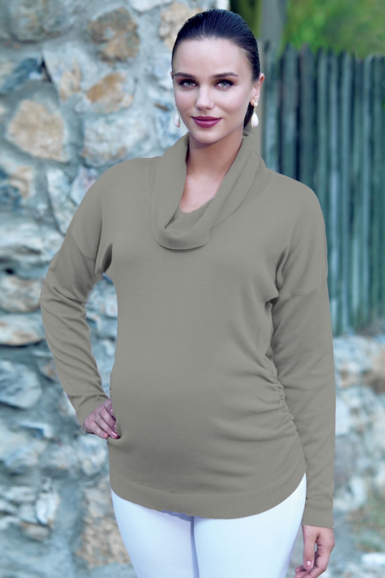 Свитер для беременных 00034 коричневый