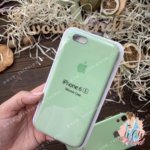 Чехол iPhone 6/6s Silicone Case /mint gum/ фисташка original quality