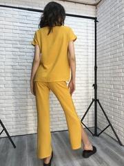 Костюм женский желтый с брюками оптом