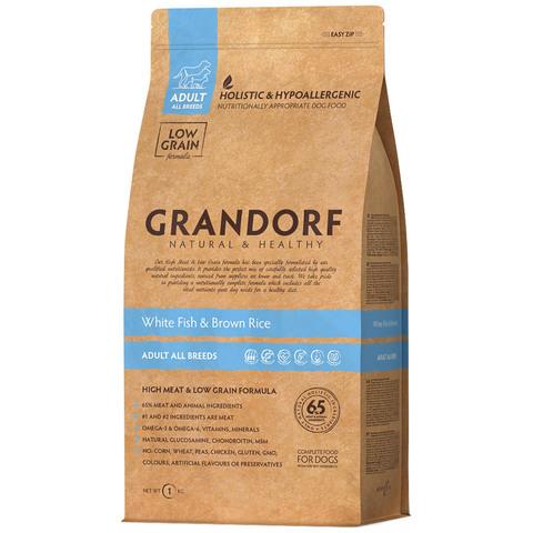 Grandorf Dog All Breeds сухой корм для собак всех пород (белая рыба с рисом) 1кг