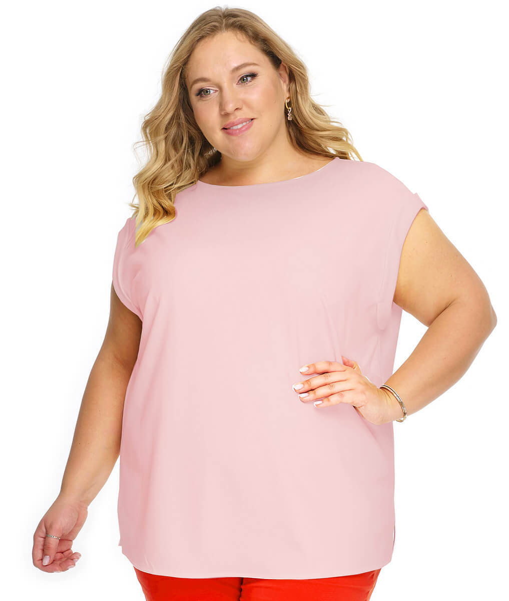 Блуза со спущенным плечом