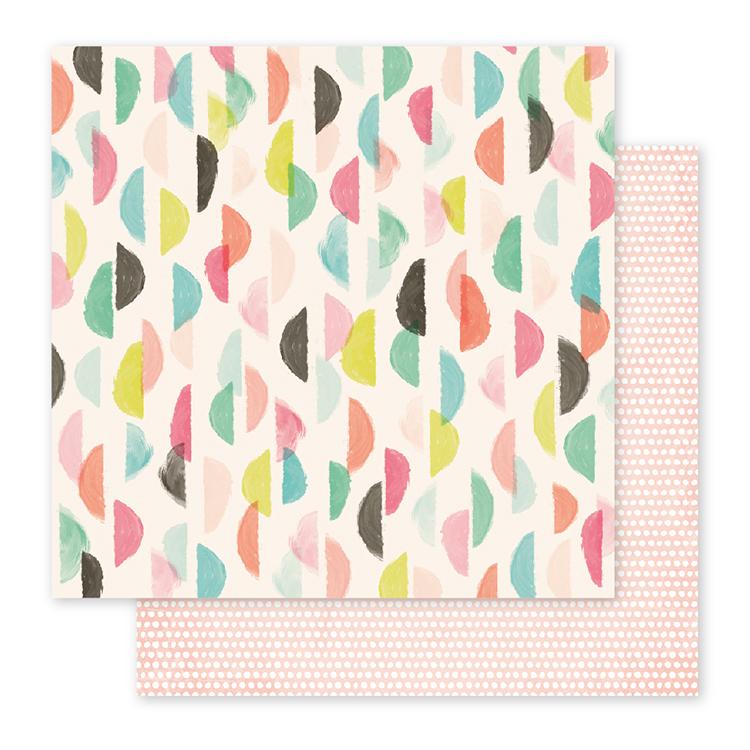 Лист двусторонней бумаги  Fancy Free  от Pink Paislee  30х30см