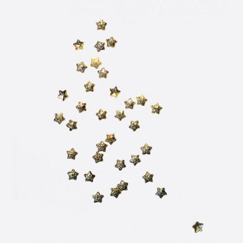 ARTEX Полусферы звезды шлифованные золото 2х2 мм