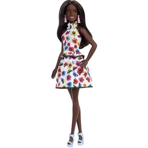 Барби Fashionistas 106 в Платье с Цветочным Принтом