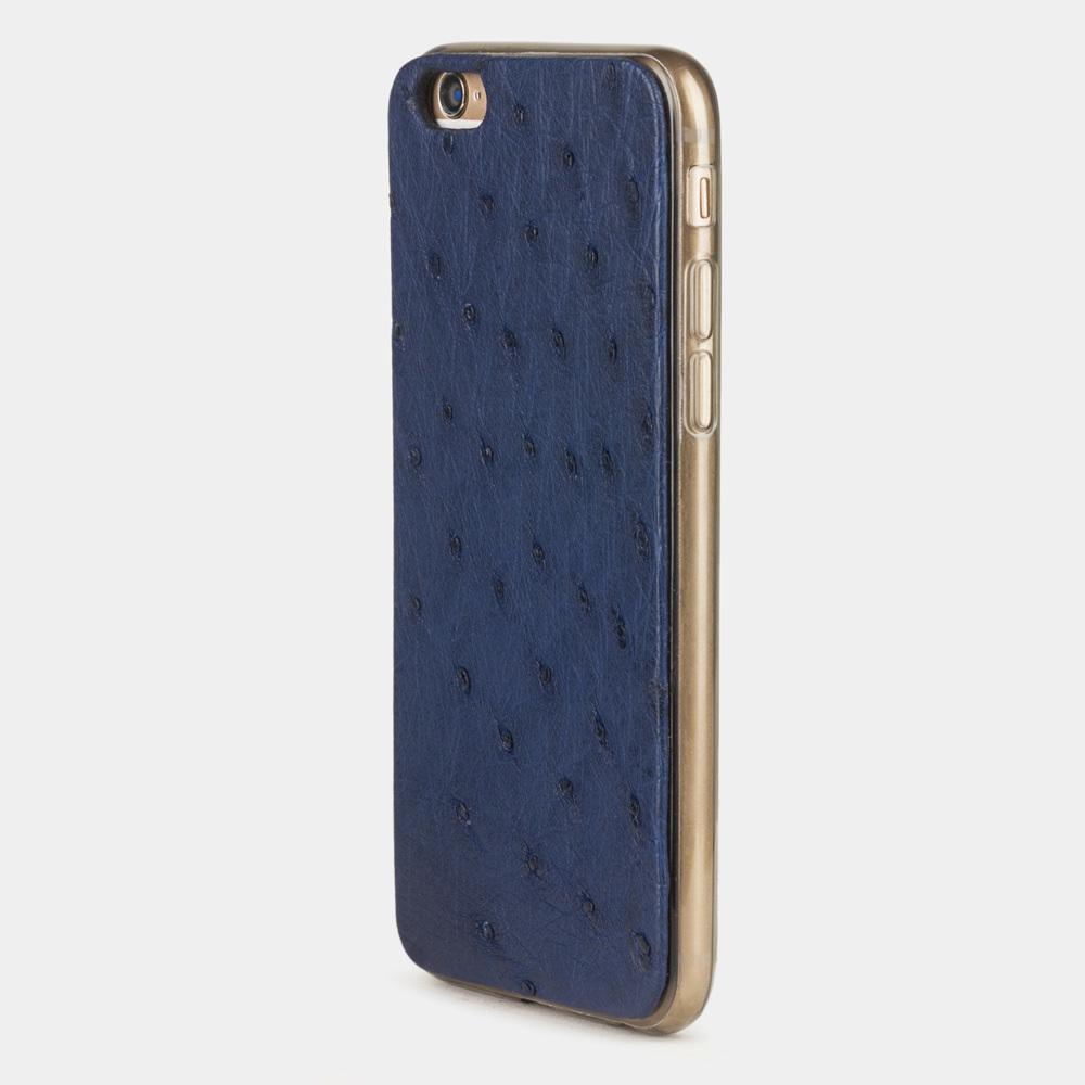 Чехол-накладка для iPhone 6/6S из натуральной кожи страуса, цвета ультрамарин