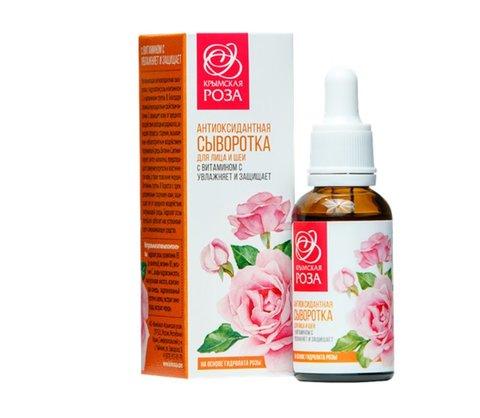 Антиоксидантная сыворотка для лица и шеи с витамином С™Крымская роза