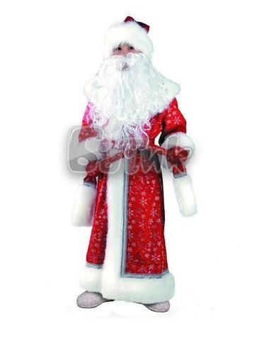 Костюм Дед Мороз детский плюшевый красный