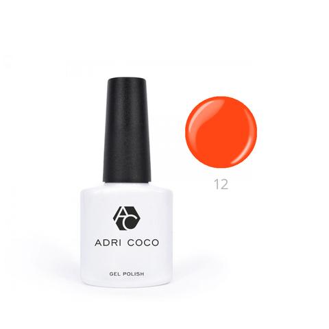 Гель-лак ADRICOCO Pretty dolly №12 неоновый оранжевый (8 мл.)