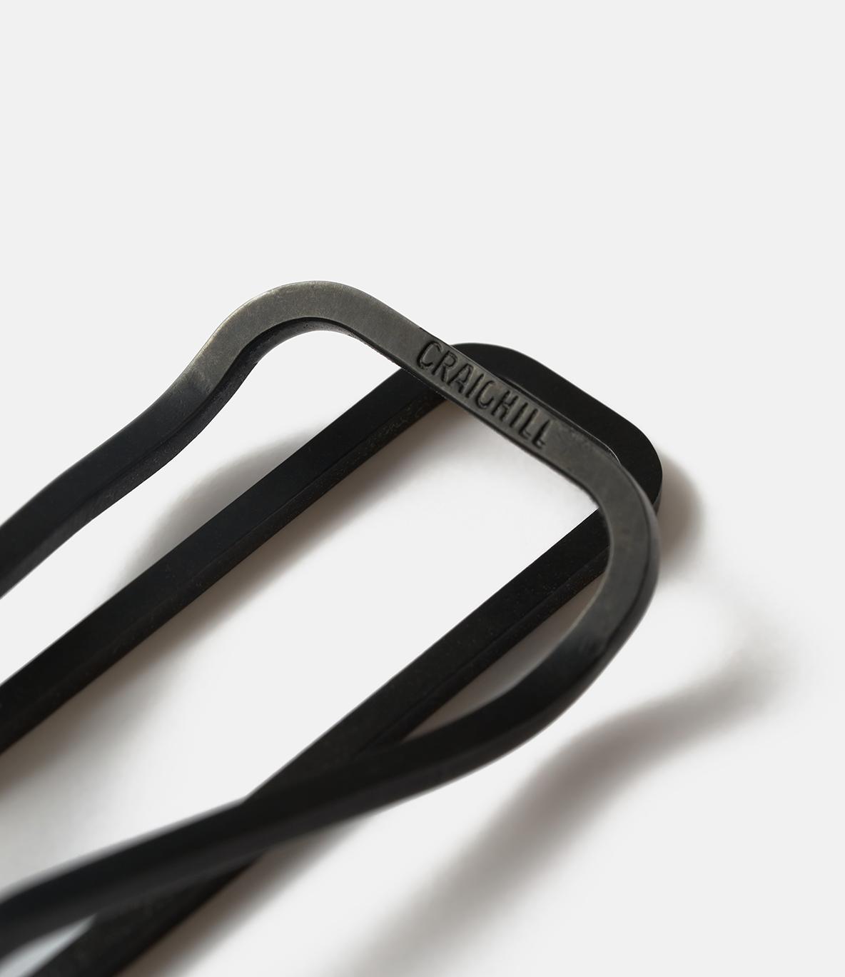 Craighill Square Carbon Black — зажим для купюр: мелонитовая сталь