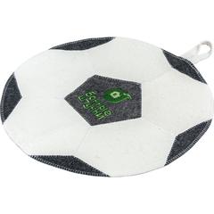 Коврик «Футбольный мяч», бежевый, войлок 100%