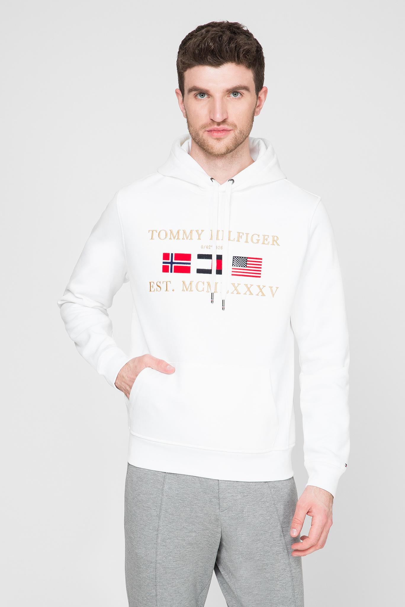 Мужское белое худи MULTI FLAG Tommy Hilfiger