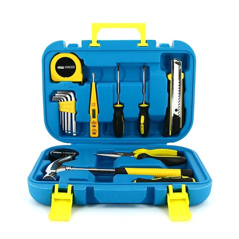 Набор инструментов Stinger, 15 инструментов, в пластиковом кейсе, синий