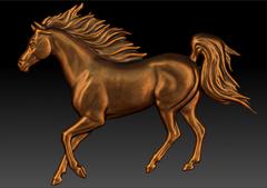 Силиконовый молд  № 035  Конь  левый