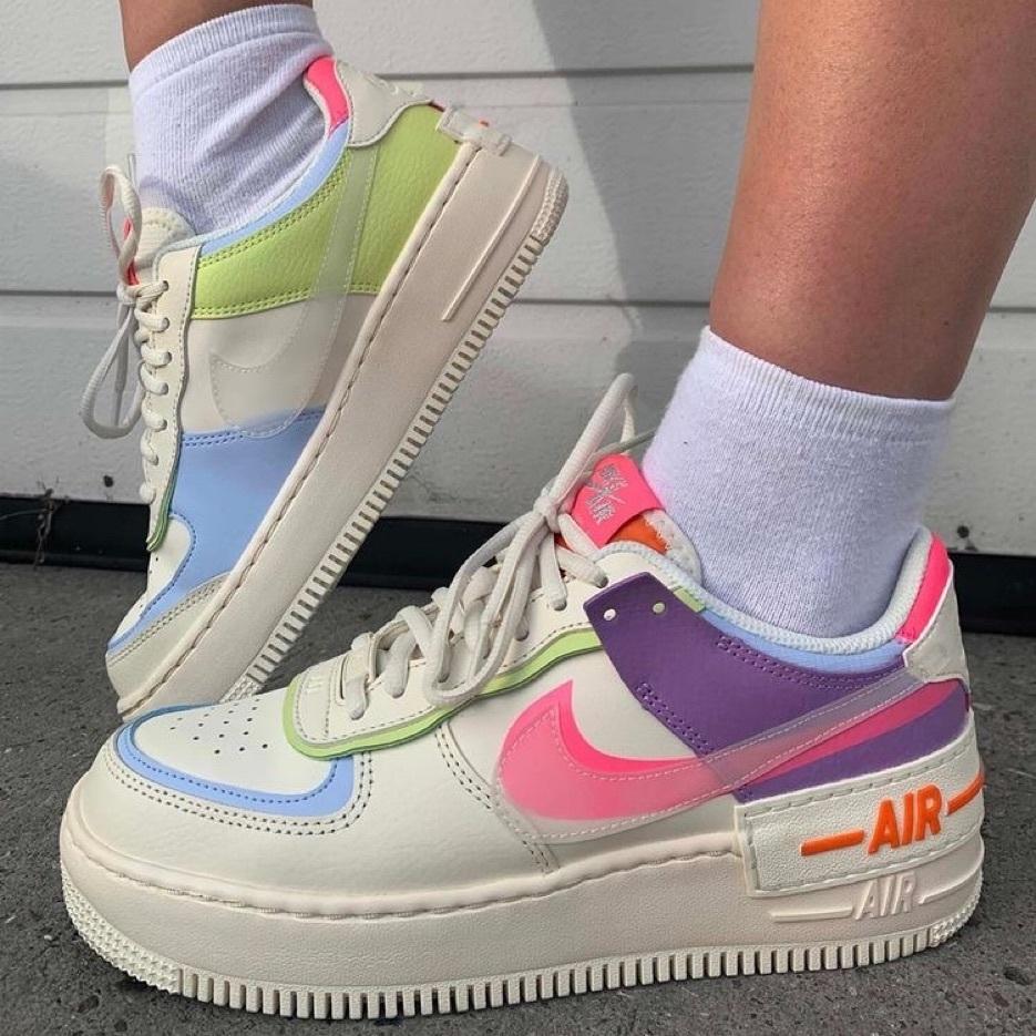 Nike Air Force 1 Shadow White/Pink/Purple