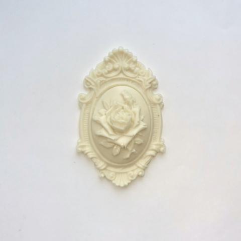 Отливка Накладка с розой 7х4,5см., ОТЛ-РО-948, пластик