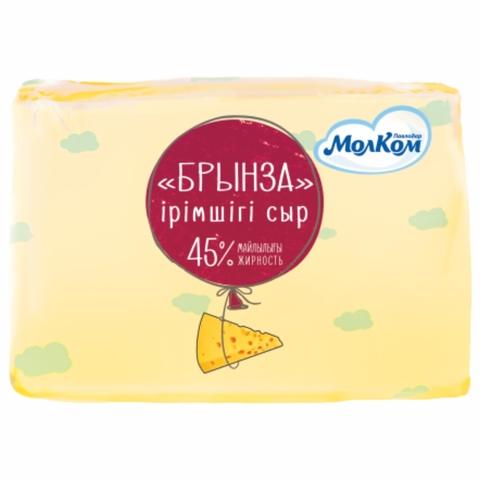 Сыр БРЫНЗА 45% монолит Молком КАЗАХСТАН