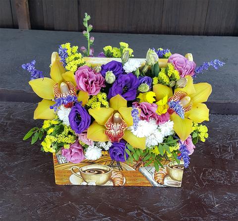 Ящик с цветами Экзотика 2