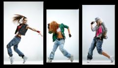 """Модульная картина """"Девушки танцуют хип-хоп"""""""