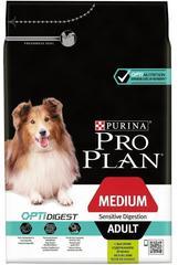 Сухой корм, Purina Pro Plan, для взрослых собак средних пород с чувствительным пищеварением, с ягнёнком и рисом