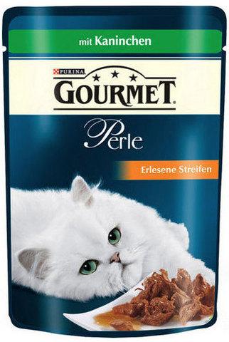 Gourmet Кусочки в соусе (подливе) Gourmet Perl с кроликом для кошек 85 г