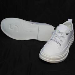 Женские белые кроссовки туфли на маленьком каблуке El Passo sy9002-2 Sport White.