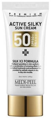 MEDI-PEEL Active Silky Sun Cream солнцезащитный крем SPF50+PA+++ 50мл