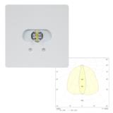 Встраиваемые аварийные светодиодные светильники эвакуационного освещения высоких помещений SLIMSPOT II Line MIDBAY Teknoware