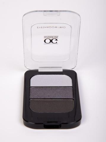 OG-Y6604 Тени для век трёхцветные тон 03 св.серый -серый -т.серый шиммер,TRIO EYESHADOWS GREY SMOKY