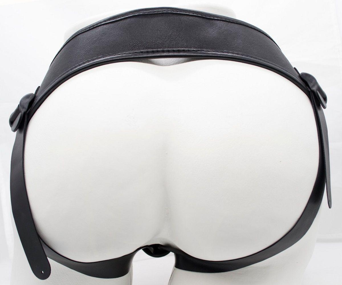 Телесная насадка-фаллос на трусиках с плугом - 16,5 см.