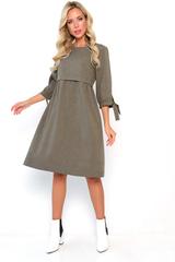 <p>Одна из любимых моделей этого сезона! Невероятно женственное и романтичное платье! Модель свободного кроя, талия завышена, отрезная. Рукав 3/4 с завязками.</p>