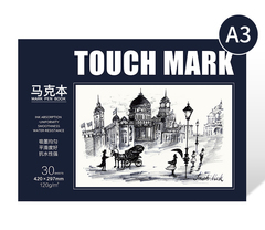 Скетчбук для маркеров Touch Mark, А3, 30 л. (уценка)