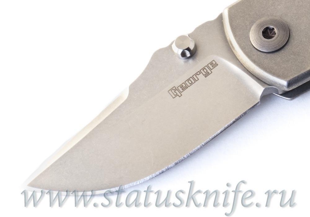 Нож ESV Extra Small VECP NUDE Full Custom Les George - фотография
