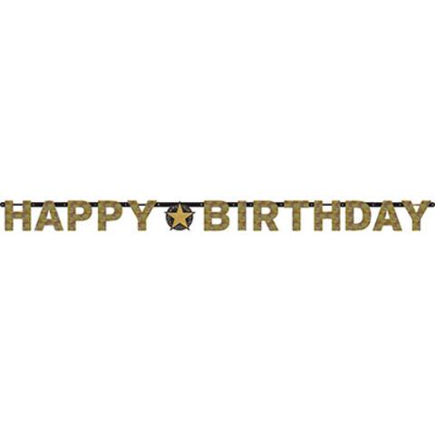 Гирлянда Happy Birthday Sparkling гологр