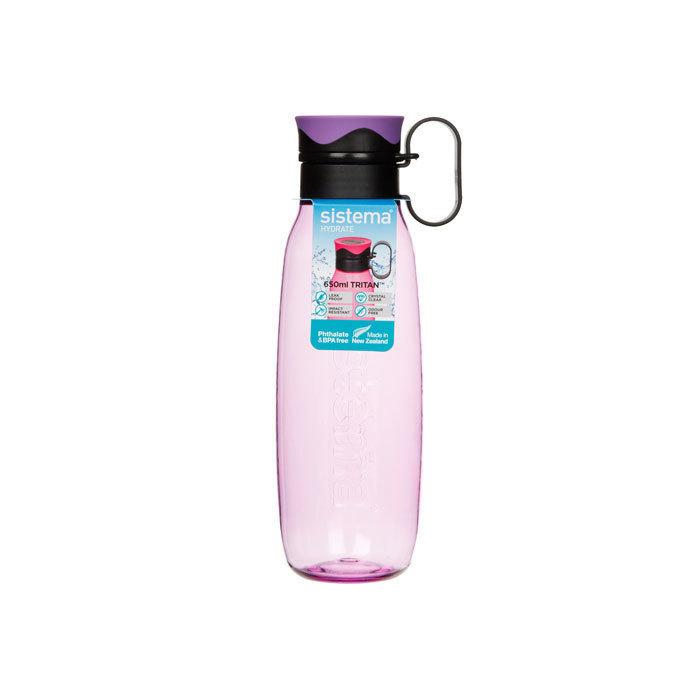 """Бутылка для воды с петелькой Sistema """"Hydrate"""", Тритан, 650 мл, цвет Фиолетовый"""