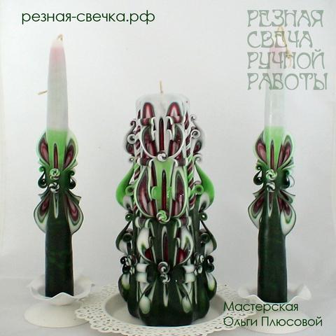 Семейный очаг Новогодний малый резные свечи