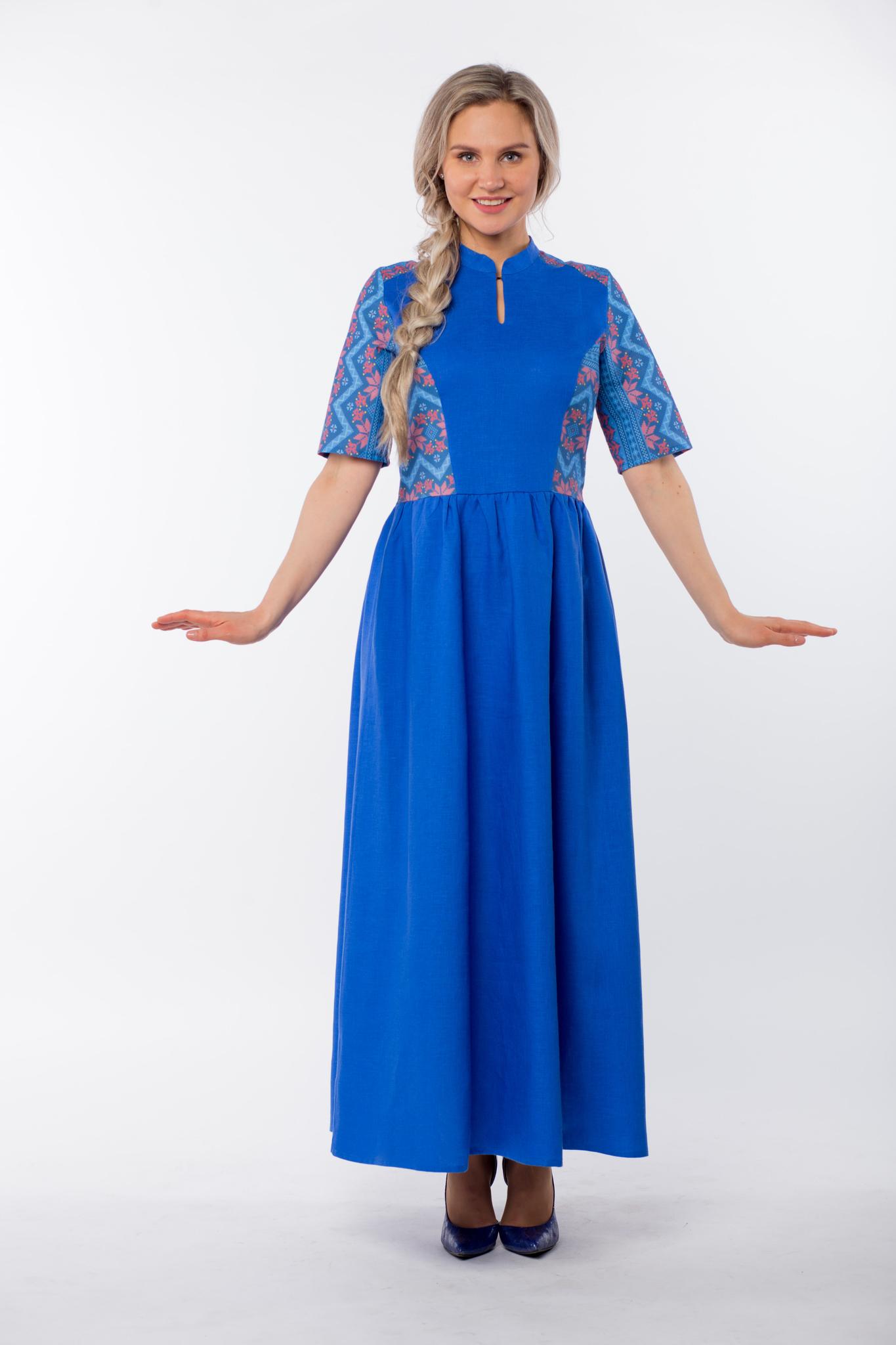 Платье Вольная вода макси без пояса