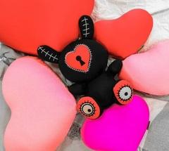 Подушка-игрушка антистресс Gekoko «Большое розовое сердце» 4