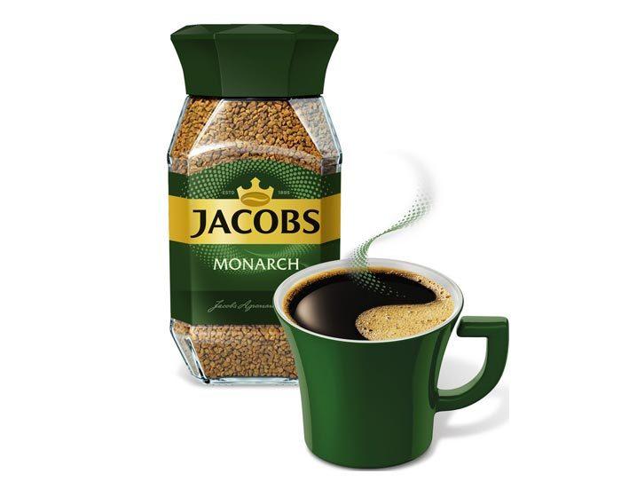 Кофе растворимый Jacobs Monarch, 95 г стеклянная банка