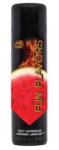 Разогревающий лубрикант Fun Flavors 4-in-1 Juicy Watermelon с ароматом арбуза - 89 мл.