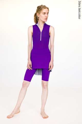 Knee length shorts with skirt stretch colour | violet