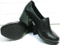 Женские закрытые туфли на каблуке 6 см осень весна H&G BEM 107 03L-Black.