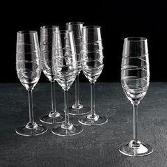 Набор бокалов для шампанского «Спираль», 160 мл, 6 шт, фото 1