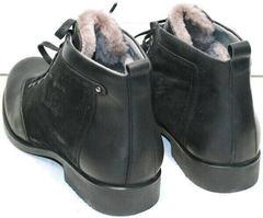 Зимние кожаные ботинки повседневные мужские Luciano Bellini 6057-58K Black Leathers & Nubuk.